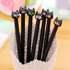 5pcs/set Black Cat Gel Pen Cute Stationery Creative Gift School Supplies 0.5mm