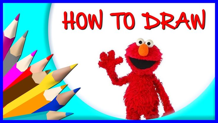 How to Draw Elmo    Drawing Time Lapse   853672 HTD