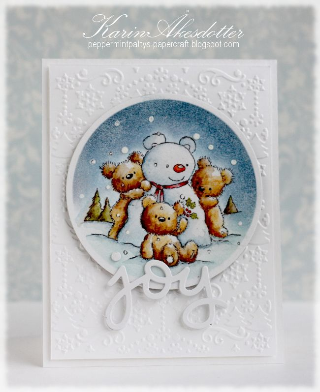 This card was created for the Christmas challenge at Lily of the Valley. I absolutely adore this...
