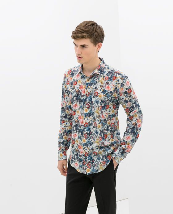 Image 1 of FLORAL PRINT SHIRT from Zara