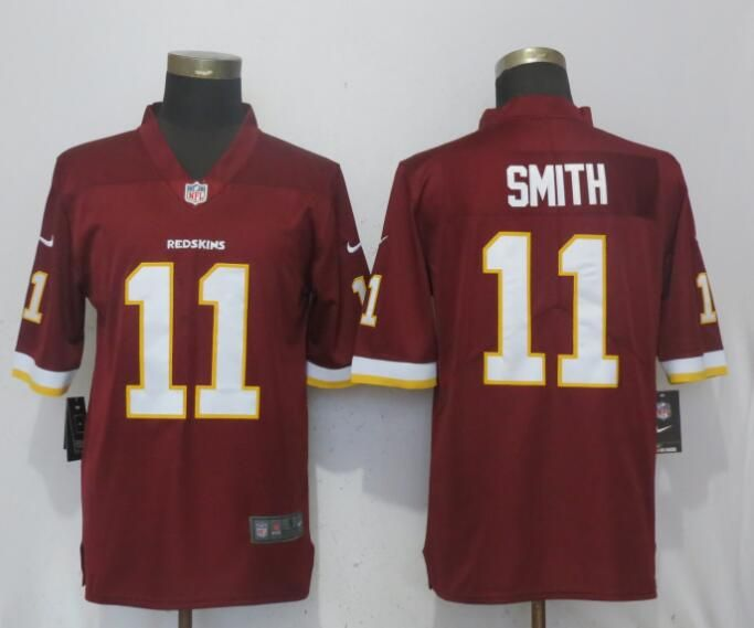 save off 19beb e3551 Nike Redskins 11 Alex Smith Red Vapor Untouchable Limited ...