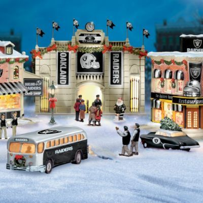 Collectible Oakland Raiders Christmas Village Collection