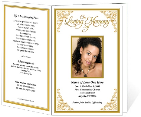 218 best images about creative memorials with funeral program templates on pinterest for Memorial service program ideas