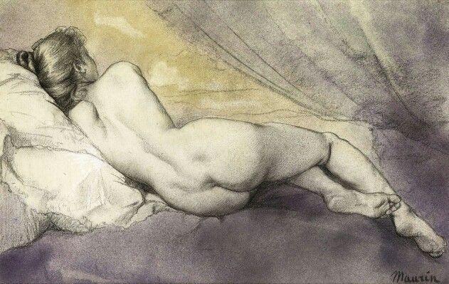 Charles Maurin, Liggend naakt