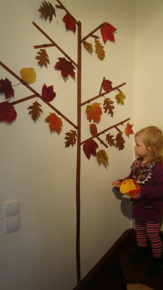 Masking Tape Fall Tree