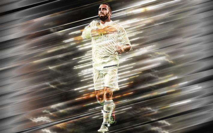 Download wallpapers Daniel Carvajal, 4k, Spanish football player, defender, Real Madrid, creative art, La Liga, Spain, football players, Carvajal