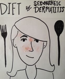 Diet for Seborrheic Dermatitis - Ever get flaky red skin? Dandruff on your face or scalp? It might be Seborrheic dermatitis! Here's a roundup of various diet-based remedies.