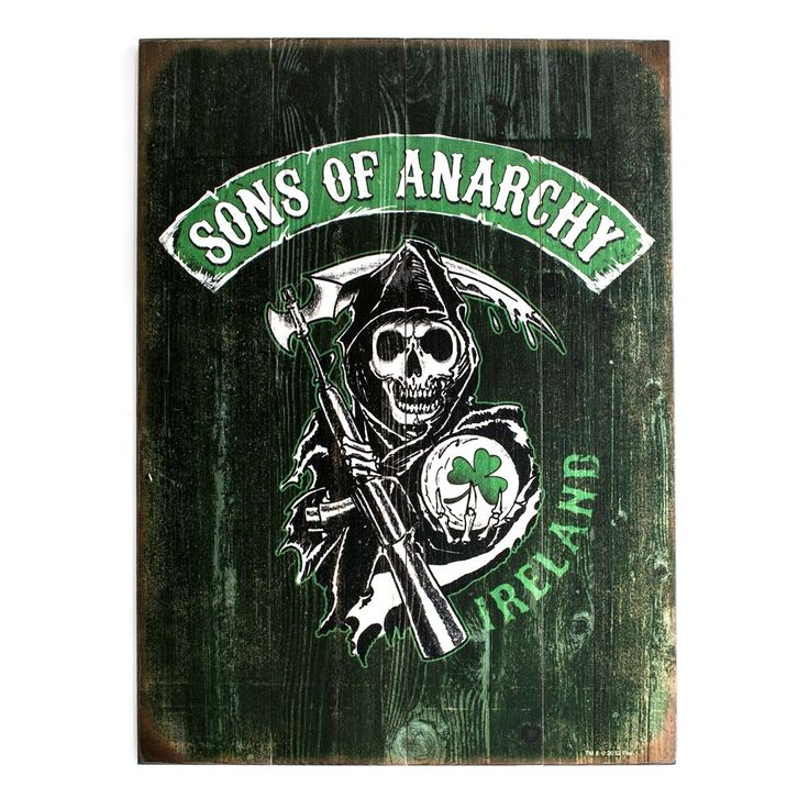 Amazon.com - Sons of Anarchy Ireland Reaper Wood Sign -
