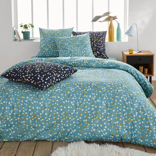 Qanik Polka Dot Print Duvet Cover Brighten Up Bedtime With A