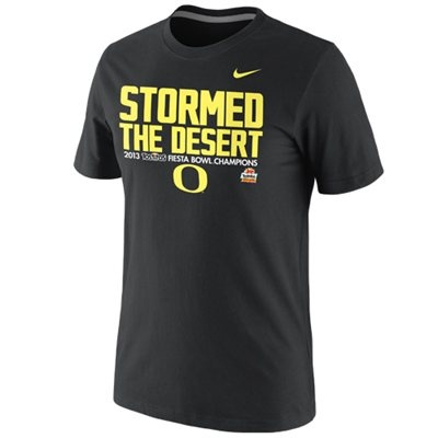4 - Nike Oregon Ducks 2013 Fiesta Bowl Champions Celebration Stormed  T-Shirt - Black