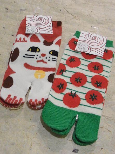 招き猫足袋ソックス