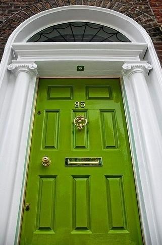 Green door.Red Doors, The Doors, Green Doors, Front Doors Colors, Colors Doors, House, Limes, Front Door Colors, Shades Of Green