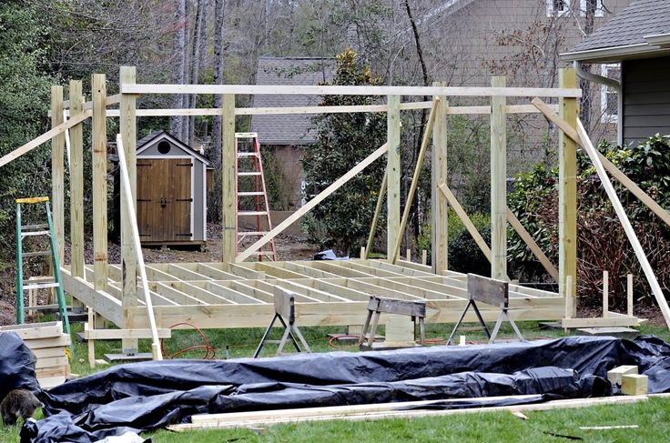 How to build a free standing deck design ideas http for Basic deck building instructions