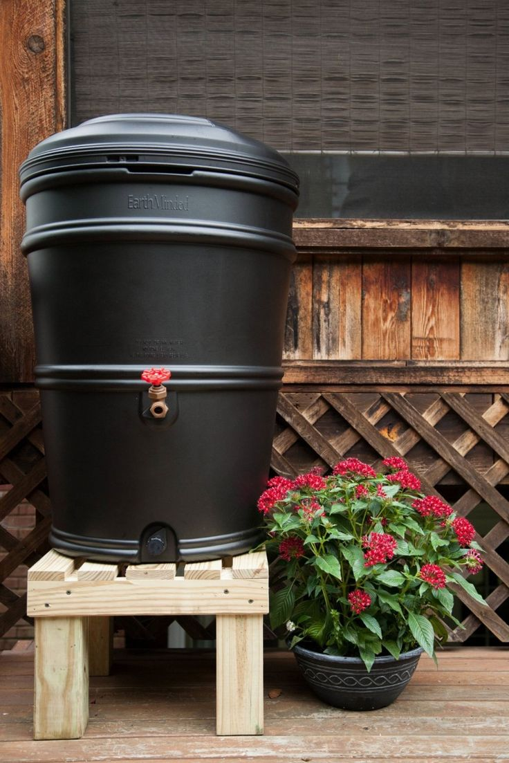 34 best rain barrel stand images on pinterest rain for Rain barrel stand ideas