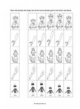 Werkblad politie - Langer en korter