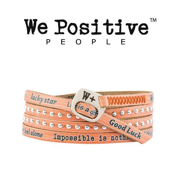 Bracciale We Positive Albicocca Collezione Holiday Pelle HD012