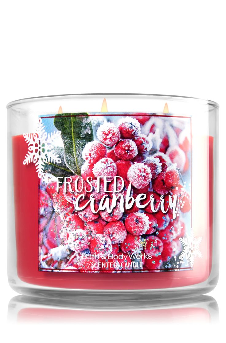 Frosted Cranberry 3-Wick Candle - Home Fragrance 1037181 - Bath & Body Works | 2 for $24