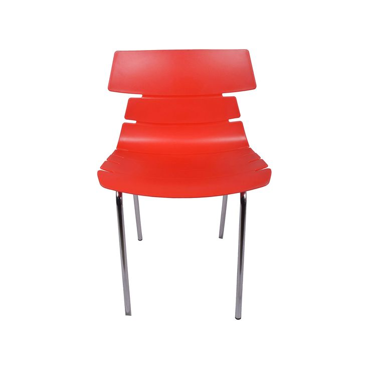 THE ALISAR STEEL FRAME PLASTIC CHAIR RED Executive Office Furniture Modern