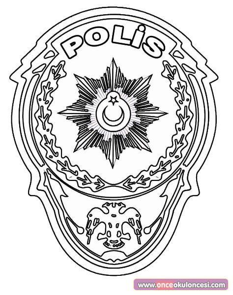 En Iyi Polis Rozeti Boyama Sayfasy Hedef Ust Ev Boyama Sayfasi