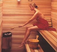 DIY sauna kit. Multiple sizes available and no plumbing needed. Definitely on my wishlist