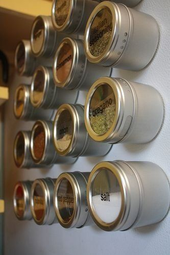 Porta Condimento Tempero Aço Inox Magnético - Imã Ervas Chá - Utifácil
