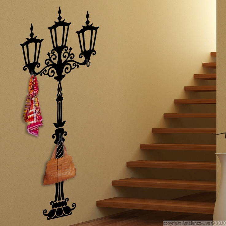 This Lantern for hooks #wall #decals can give you ideas for decorating the walls of your hall, bathroom or kitchen! #stickers
