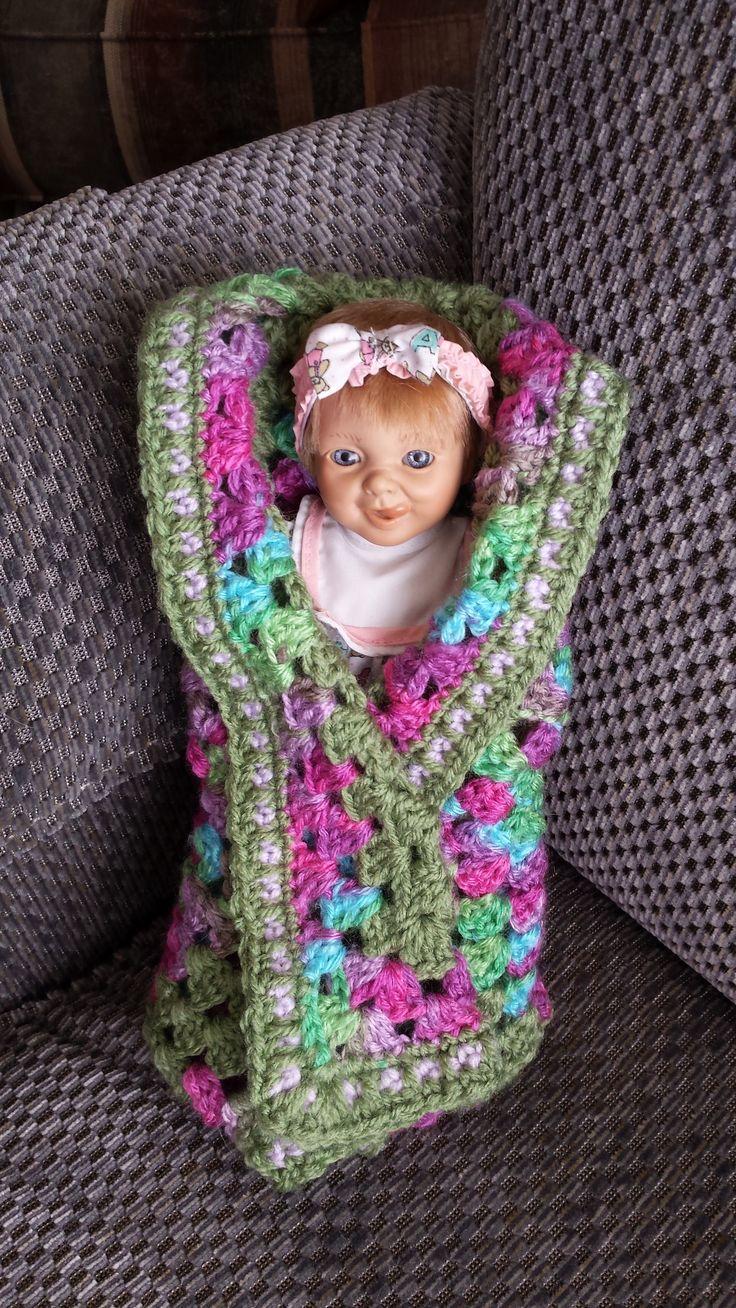 Crochet Doll Blanket.