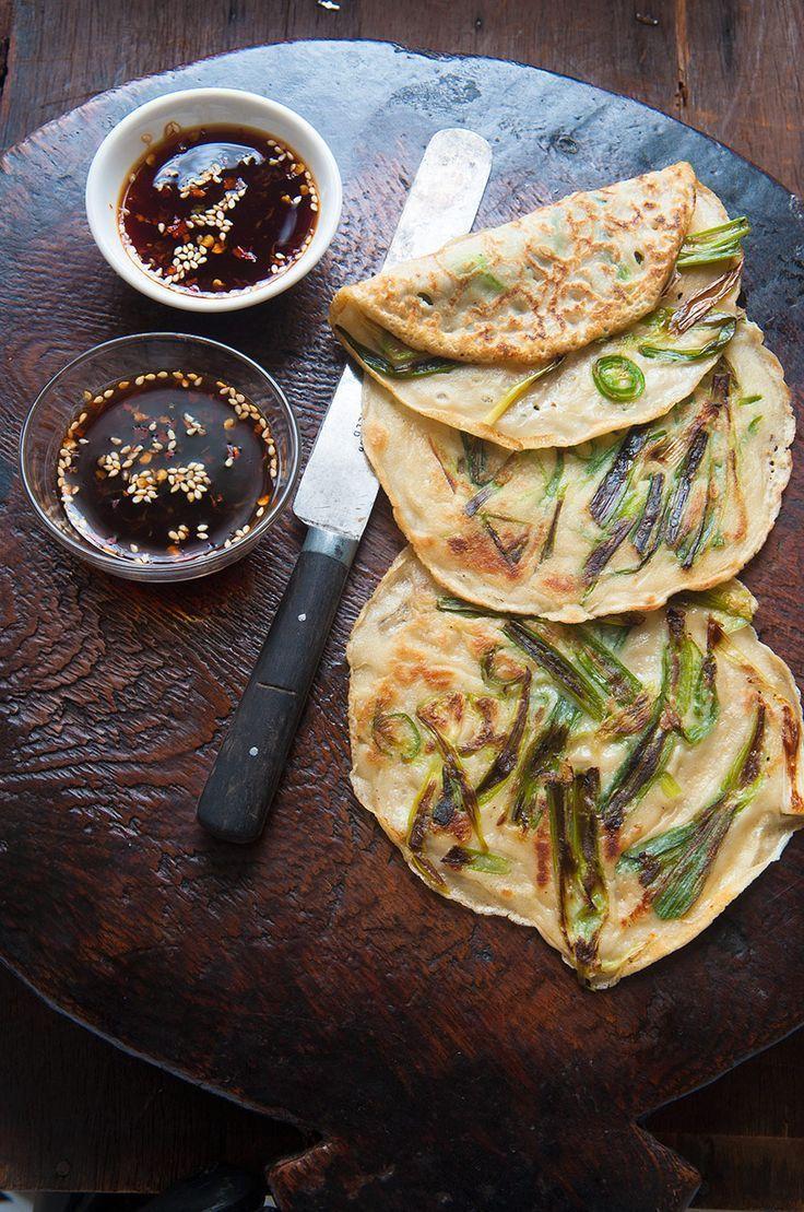 Korean spring onion pancakes (pajeon) Recipe