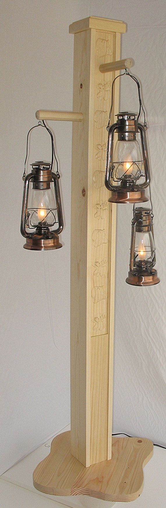 Rustic floor lamp with old fashioned electrified by HomesteadLamps, $749.95