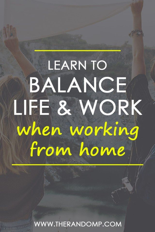 Finding the balance between work and life when working from home is a great challenge! How to stay balanced as a freelancer or remote worker? Grab some ideas! https://www.therandomp.com/blog/find-balance/