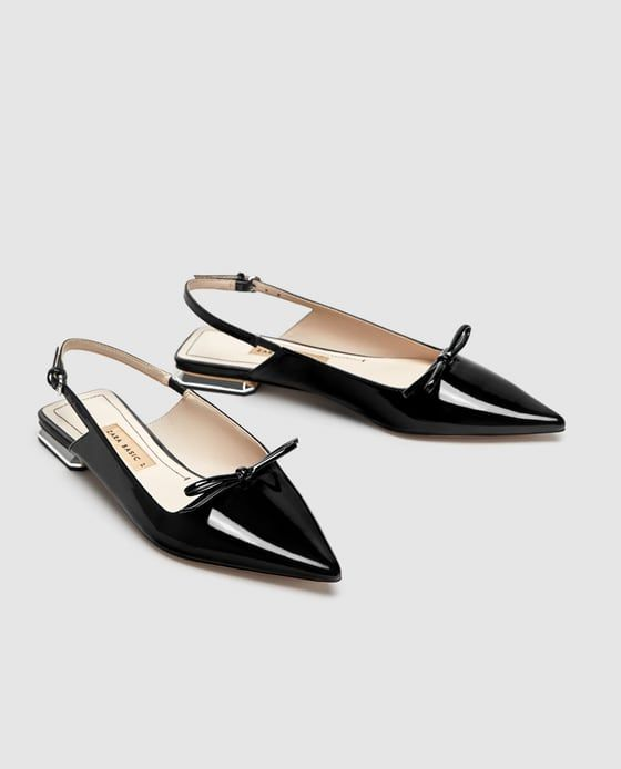 ebded0411e3 Image 3 of FLAT SLINGBACK SHOES WITH BOW DETAIL from Zara