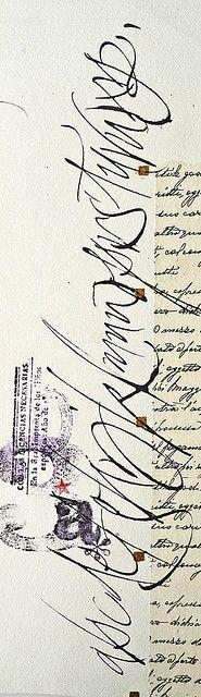 Calligraphy / Serie Alfabetos 2002 (by Silvia Cordero Vega)