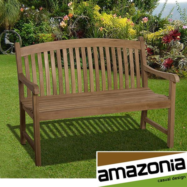 Amazonia Teak Amazonia 'Hartford' 4-foot Teak Bench - Overstock™ Shopping - Great Deals on Amazonia Outdoor Benches