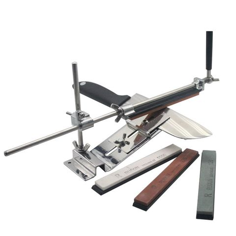 Professional Kitchen Knife Sharpening System With 4 Stones