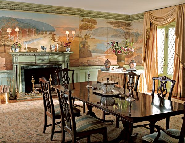The Dining Room Is Dominated By The Hand Painted Panoramic Mural, Which Is  Original To The 1929 House. Part 35