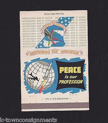 WWII PATRIOTIC MATCHBOOK COVER STRATEGIC AIR COMMAND PEACE IS OUR PROFESSION