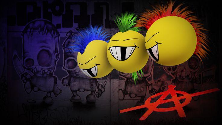 Anarchy Mohawk dark graffiti punk mohawk cartoon smiley face humor wallpaper | 1920x1080 | 52963 | WallpaperUP