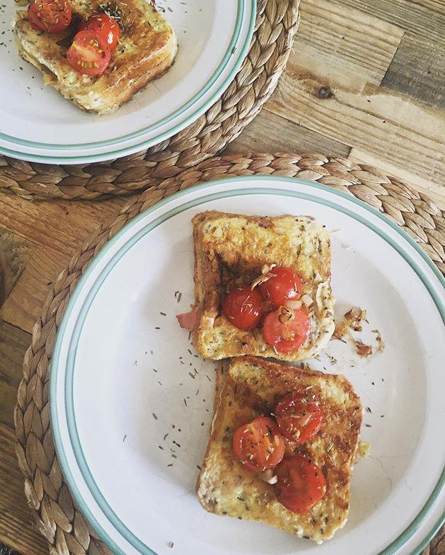 French Toasts 🍽 #yummie #frenchtoast #breakfast #sunnyday #cherrytomatoes…
