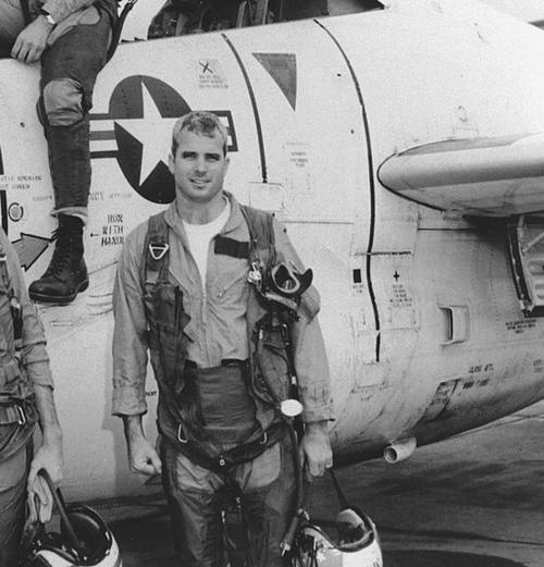 Lieutenant Commander John McCain, was forcibly dragged from the wreckage of his A-4E Seahawk after being shot down over Hanoi. Saved from drowning by Viet Cong, he was severely beaten before being taken to the infamous Hanoi Hilton as a POW. He'd remain in the North Vietnamese's hospitality for the next 7 years. POW - And a Hero!