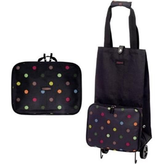 Shopping Trolley Folding Cart Grocery Rolling Bag Laundry