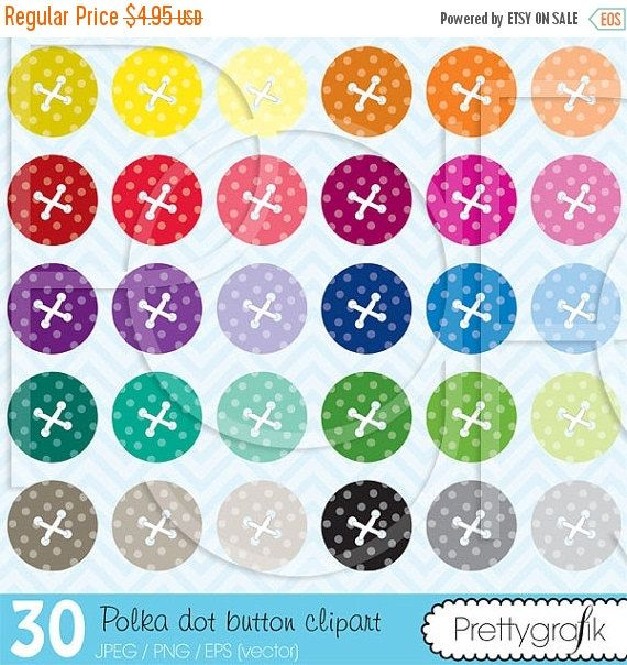 80% descuento 30 botón clipart comercial por Prettygrafikdesign
