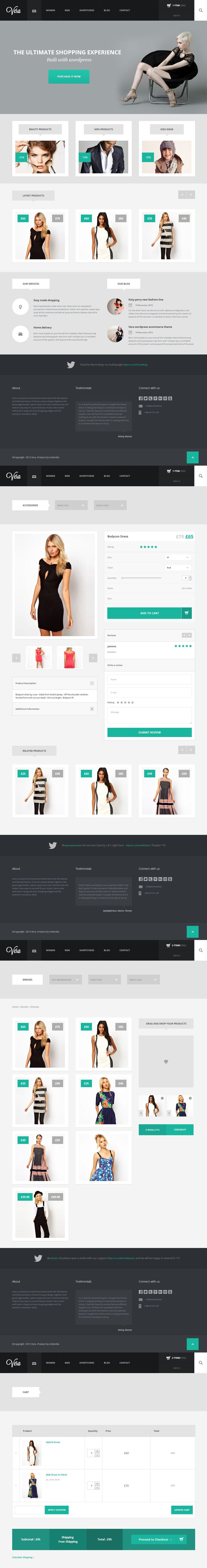 Vera Shop by Arian Selimaj  - http://www.behance.net/gallery/Vera-Fashion-Shop/6723633 - http://themeforest.net/item/vera-responsive-ecommerce-theme-for-wordpress/4158207