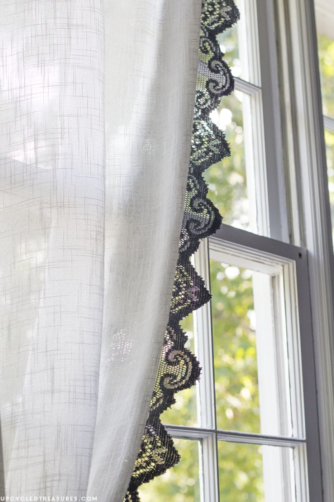 DIY: upcycled lace curtains
