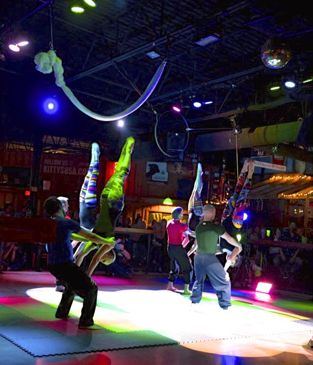 FEAT Acrobatics 8- Person Group Acrobalance stage show