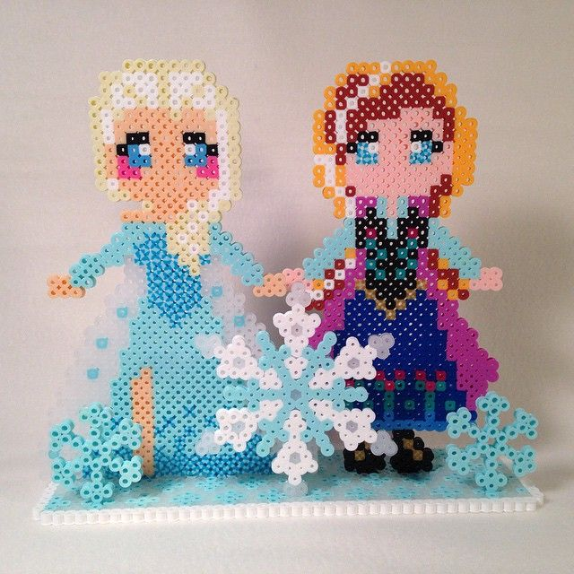 Disney Frozen perler bead project by chriswithata
