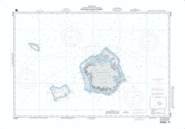 Senyavin Islands - Pohnpei Nautical Chart (81435) by National Geospatial-Intelligence Agency