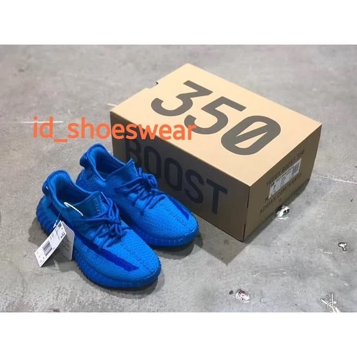 Adidas Yeezy Boost Blue Demon V2 350 Splystatic Edition Perfect