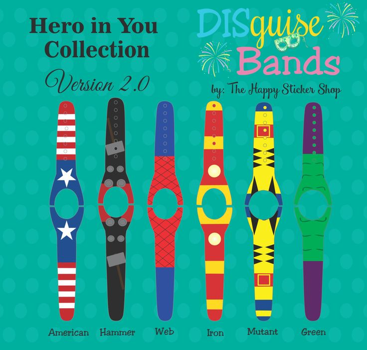 Heroes magic band 2 0 decal mix match magic band skins waterproof sunscreen proof rts ready to ship magic band decal disguise band 2