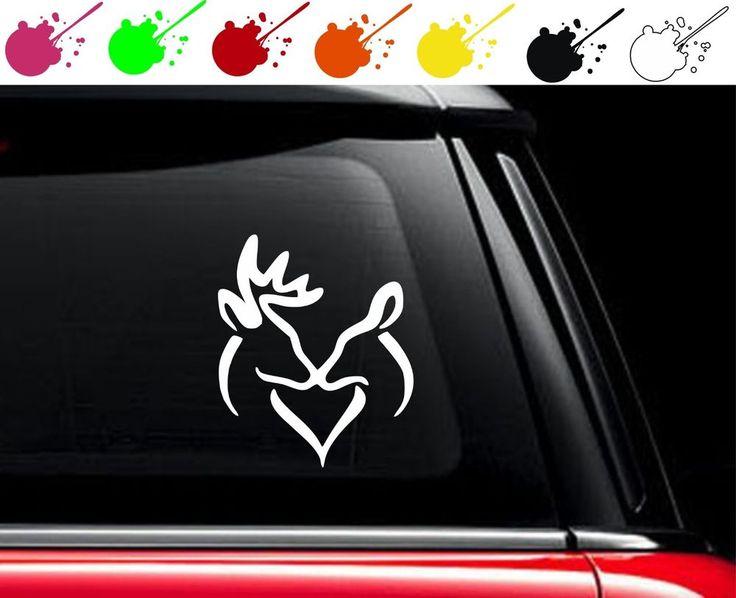 Browning kiss heart vinyl car truck decal sticker love buck doe hunting boy girl