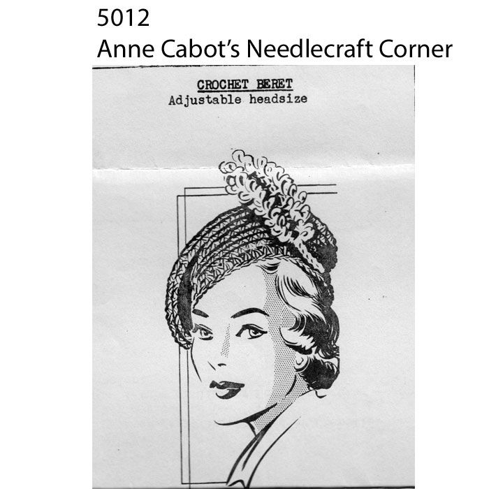 Crocheted Feather Beret Pattern Anne Cabots 5012